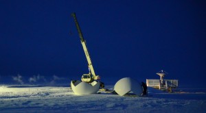 Global Imaging installing a 2.4m X/L band system to receive and process POES, METOP, AQUA, NPP and   polar orbiter data at NOAA's Point Barrow, Alaska Observatory.